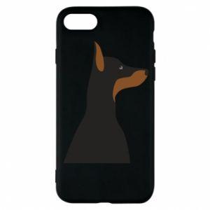 Phone case for iPhone 8 Beautiful doberman - PrintSalon