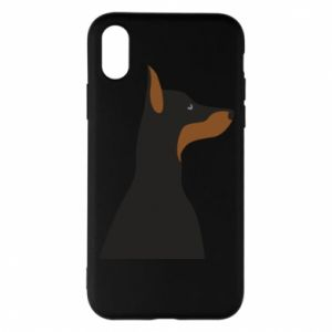 Phone case for iPhone X/Xs Beautiful doberman - PrintSalon