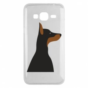Phone case for Samsung J3 2016 Beautiful doberman - PrintSalon