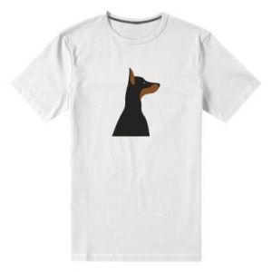 Men's premium t-shirt Beautiful doberman - PrintSalon