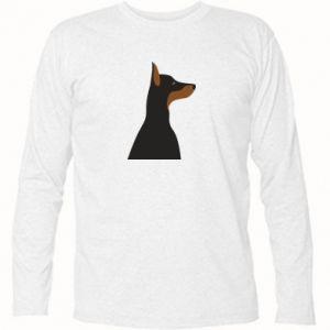 Long Sleeve T-shirt Beautiful doberman - PrintSalon