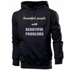 Bluza z kapturem męska Beautiful people with beauiful problems