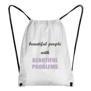 Plecak-worek Beautiful people with beauiful problems