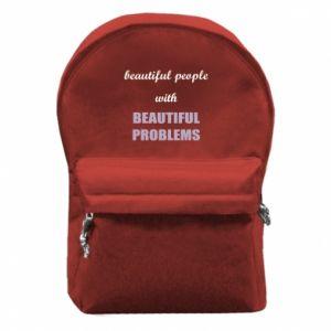 Plecak z przednią kieszenią Beautiful people with beauiful problems
