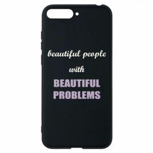 Etui na Huawei Y6 2018 Beautiful people with beauiful problems