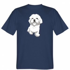 T-shirt Beautiful white dog