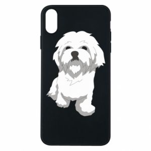 Phone case for iPhone Xs Max Beautiful white dog