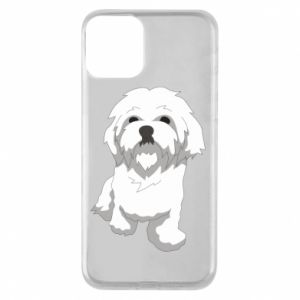 Phone case for iPhone 11 Beautiful white dog