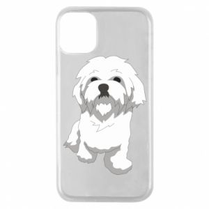Phone case for iPhone 11 Pro Beautiful white dog