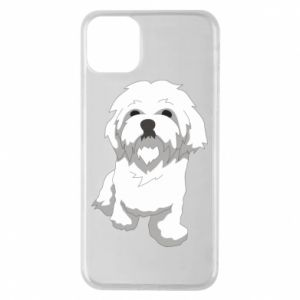 Phone case for iPhone 11 Pro Max Beautiful white dog