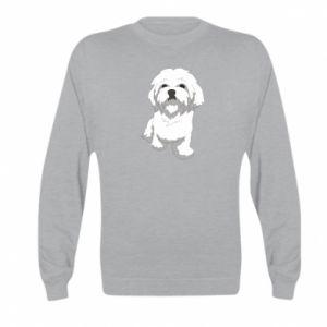 Bluza dziecięca Beautiful white dog