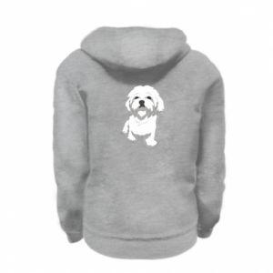 Bluza na zamek dziecięca Beautiful white dog