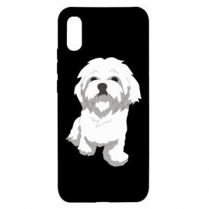 Etui na Xiaomi Redmi 9a Beautiful white dog