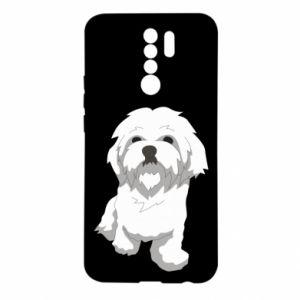 Xiaomi Redmi 9 Case Beautiful white dog