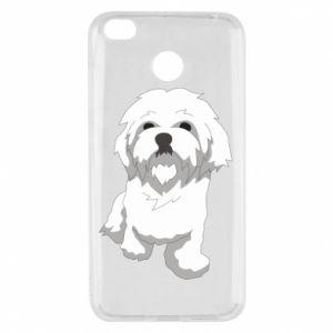 Etui na Xiaomi Redmi 4X Beautiful white dog
