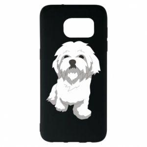 Etui na Samsung S7 EDGE Beautiful white dog