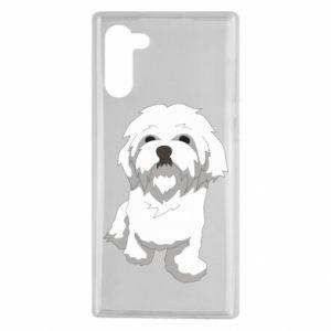 Etui na Samsung Note 10 Beautiful white dog