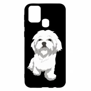 Etui na Samsung M31 Beautiful white dog