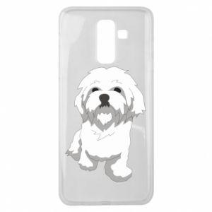 Etui na Samsung J8 2018 Beautiful white dog