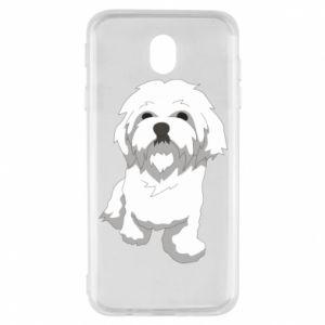 Etui na Samsung J7 2017 Beautiful white dog