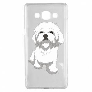 Etui na Samsung A5 2015 Beautiful white dog