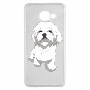 Etui na Samsung A3 2016 Beautiful white dog