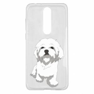 Etui na Nokia 5.1 Plus Beautiful white dog