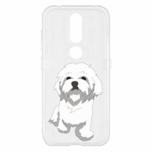 Etui na Nokia 4.2 Beautiful white dog