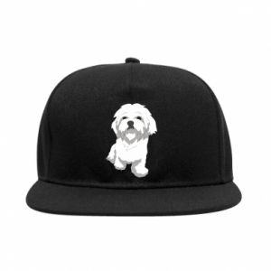SnapBack Beautiful white dog