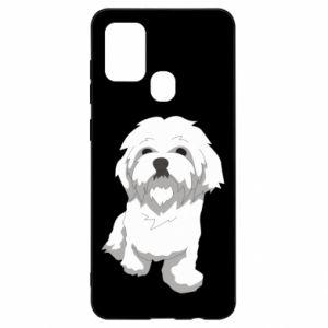 Etui na Samsung A21s Beautiful white dog