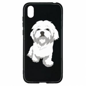 Etui na Huawei Y5 2019 Beautiful white dog