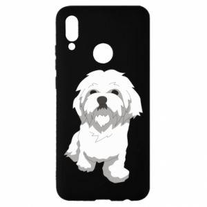 Etui na Huawei P Smart 2019 Beautiful white dog