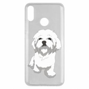 Etui na Huawei Y9 2019 Beautiful white dog