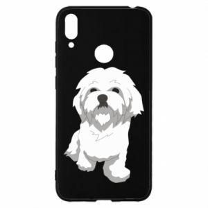 Etui na Huawei Y7 2019 Beautiful white dog