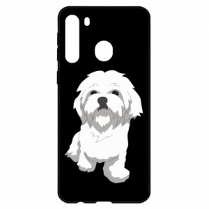 Etui na Samsung A21 Beautiful white dog