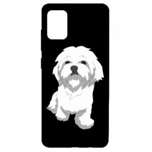 Etui na Samsung A51 Beautiful white dog