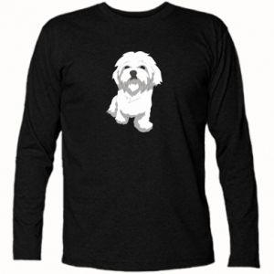 Koszulka z długim rękawem Beautiful white dog