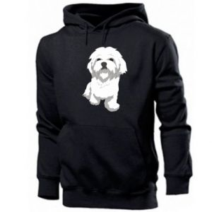 Men's hoodie Beautiful white dog