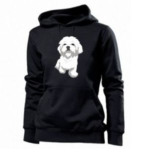 Women's hoodies Beautiful white dog