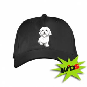 Kids' cap Beautiful white dog