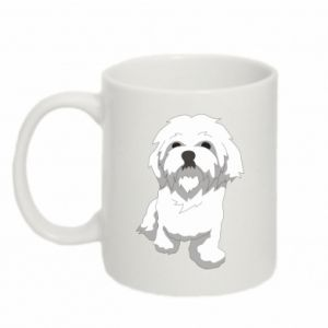 Mug 330ml Beautiful white dog
