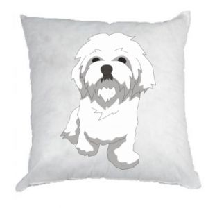 Pillow Beautiful white dog