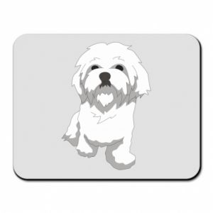 Mouse pad Beautiful white dog
