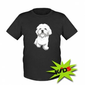 Kids T-shirt Beautiful white dog
