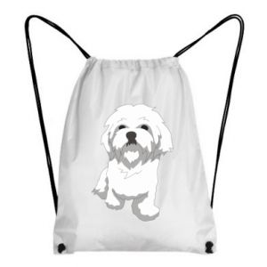 Backpack-bag Beautiful white dog