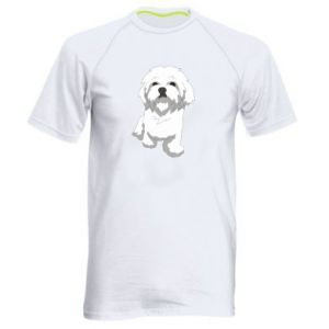 Men's sports t-shirt Beautiful white dog