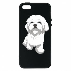 Phone case for iPhone 5/5S/SE Beautiful white dog