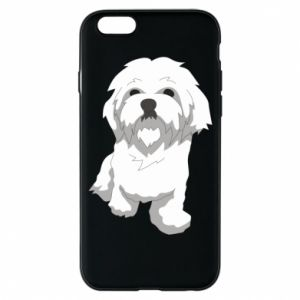 Phone case for iPhone 6/6S Beautiful white dog