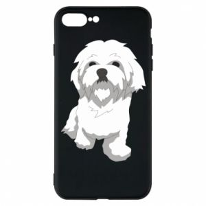 Phone case for iPhone 7 Plus Beautiful white dog