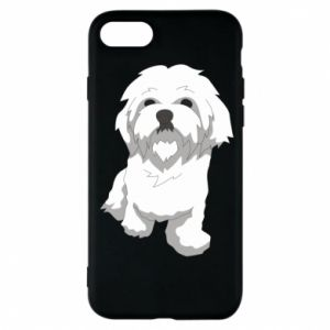 Phone case for iPhone 8 Beautiful white dog